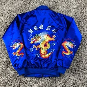 🔥Vintage Korea Satin Dragon Bomber Jacket🔥